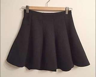 Topshop skater skirt with zip
