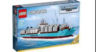 Lego 10241 絕版馬士基貨櫃船