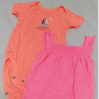 Carters 12M Rompers x 2