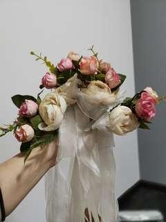 Wedding bridal car bouquet deco