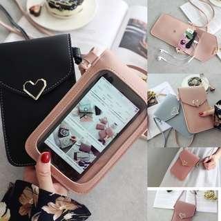 Korean Mobile Multi Pocket and Trans View Sling Bag