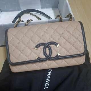 Authentic Brand New Chanel Classic Borsa In Beige