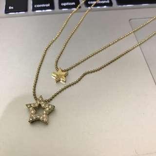 🚚 雙層星星項鍊