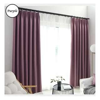 🚚 Curtain with blackout effect- 130cm by 180cm (Purple)