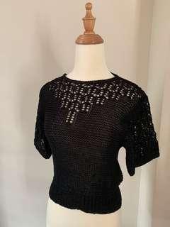 Brand new black knit top