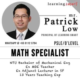 Ex School teacher Math home tuition PSLE , O level , IGCSE , IB
