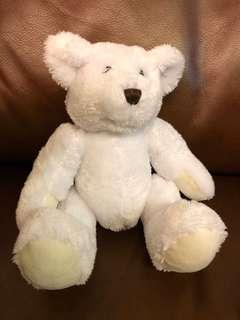 White bear stuff toy