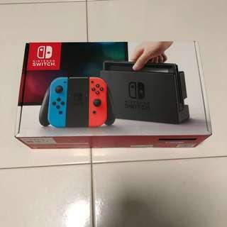 BNIB Nintendo Switch Console Neon Sealed Local Set Warranty