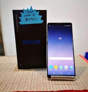 Used Samsung Note 8 Black