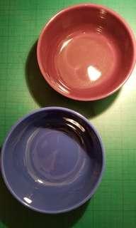 IKEA雙色陶瓷大碗1對
