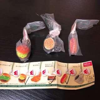 日本Mos Burger扭蛋(共3個)