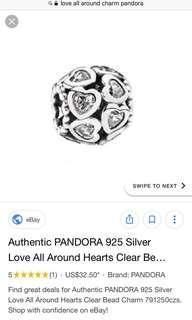 Love all around pandora charm