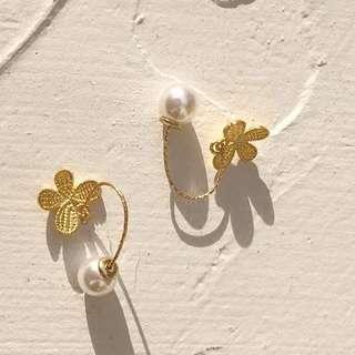 防敏感耳環 earrings for big day wedding Korean