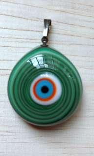 🎉Evil Eyes or Cat Eyes or Lucky Eyes import From Turkey 🇹🇷 Istanbul pendant colour  Green