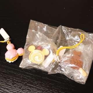 迪士尼米奇甜品扭蛋(共3個)吊飾