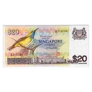 Singapore Bird Series $20 Banknote 514766