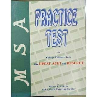 (Preloved) MSA Practice Tests