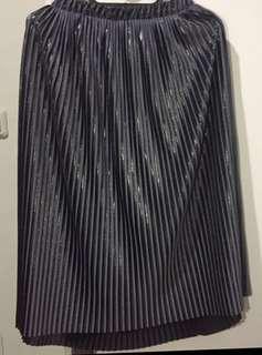 Zara Silver Skirt