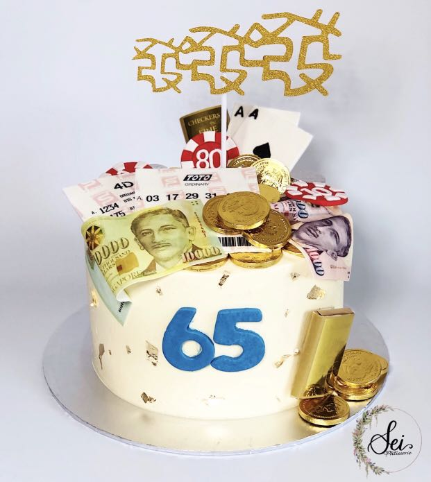 4D Money Pulling Customized Cake Food Drinks Baked Goods On