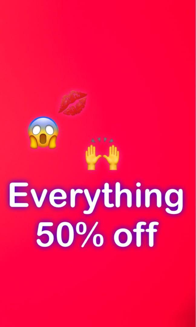50% off everything in my profile