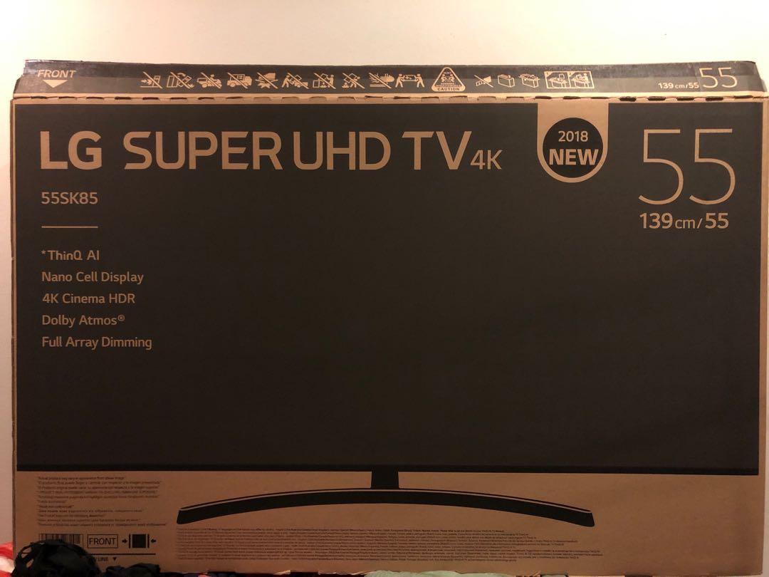 "c15535081278a 55"" LG SUPER UHD TV BOX (BOX ONLY)"