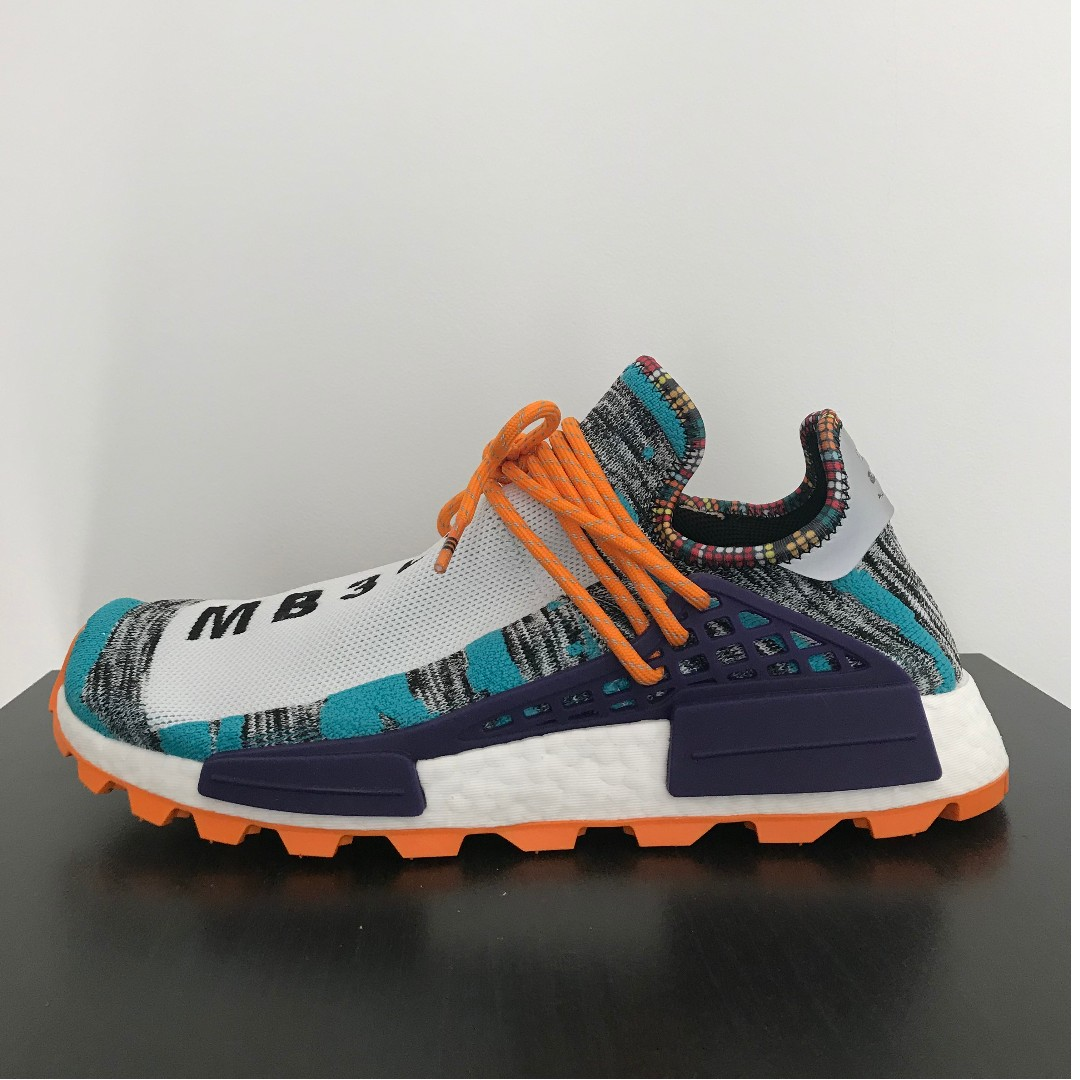 4dd77dd139f06 adidas NMD Hu Pharrell Solar Pack Orange   Turquoise   Purple ...