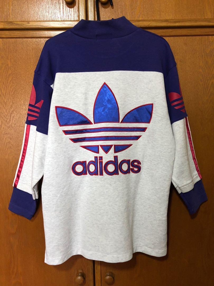 Llamarada franja He reconocido  Adidas Vintage Pullover Sweater, Men's Fashion, Clothes, Tops on Carousell