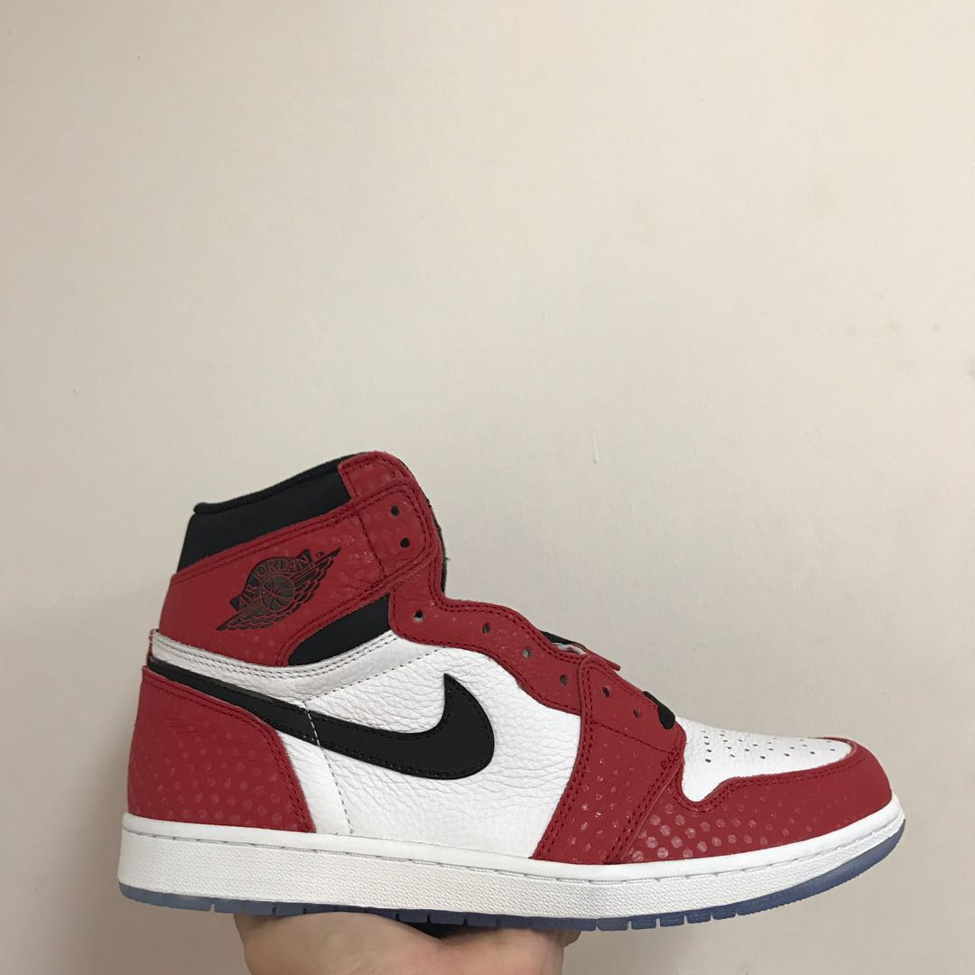 42da64c7ae5 Air Jordan 1 Spider-Man Origin Story, Men's Fashion, Footwear ...