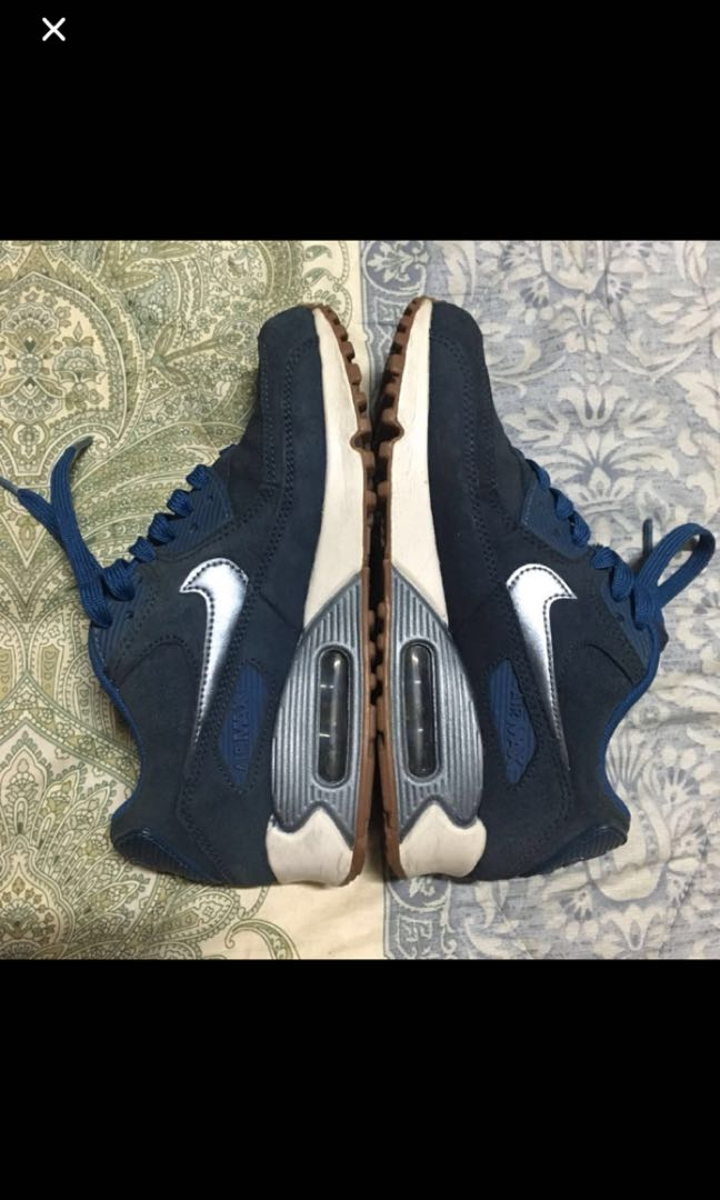 competitive price 4006d f3c0b Air Max 90 PRM Suede Midnight Navy Metallic Blue Dust, Women s ...