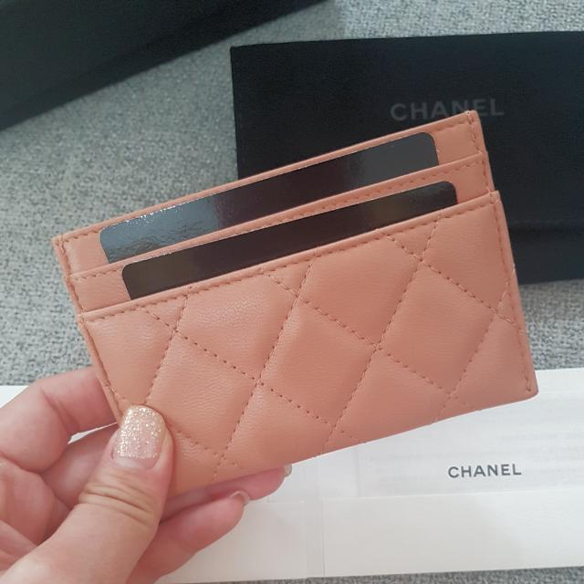 Authentic Brand New Chanel Beige Embellished Cardholder