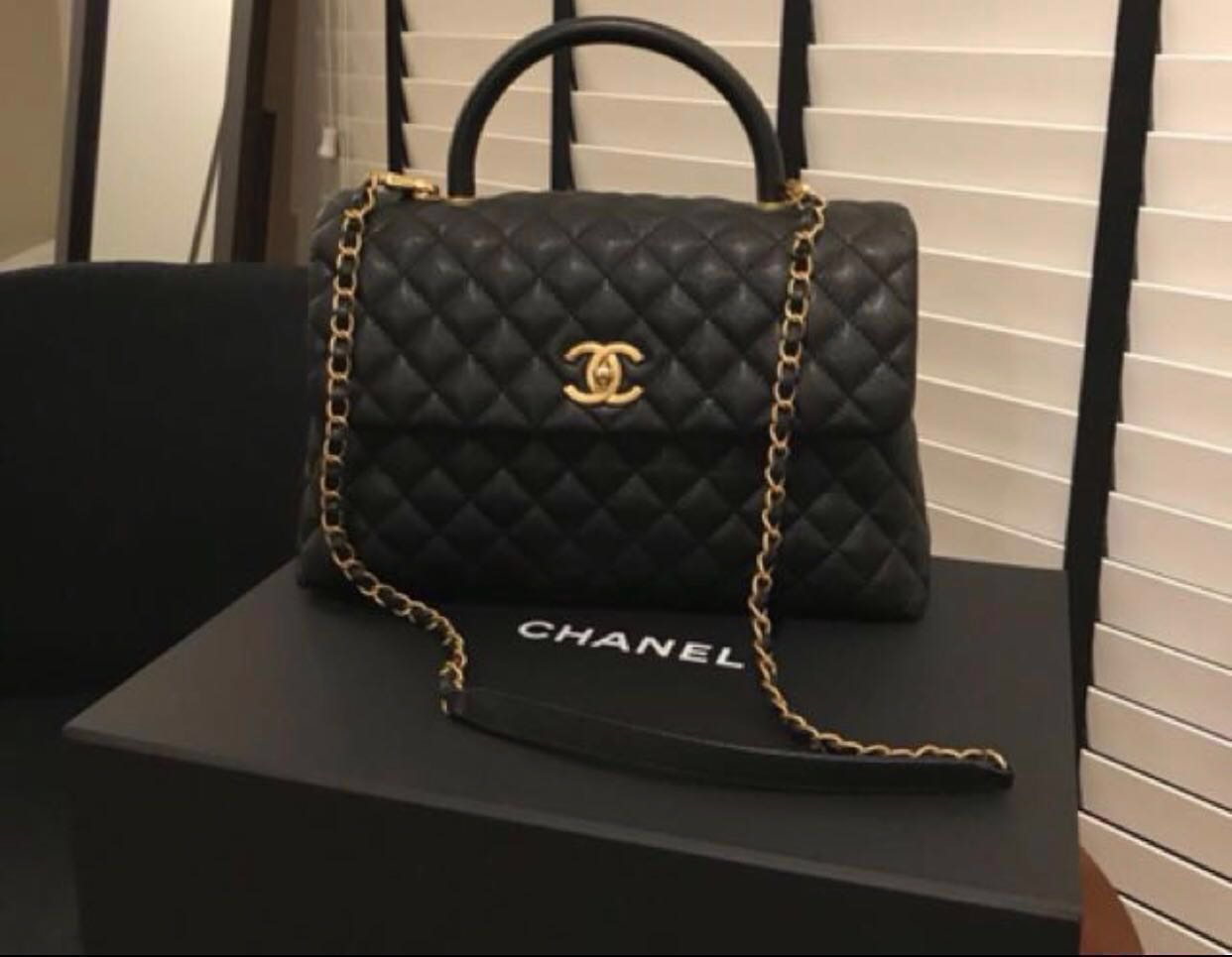 1dedc36d59fdce Authentic Chanel Coco Handle Large, Luxury, Bags & Wallets, Handbags ...