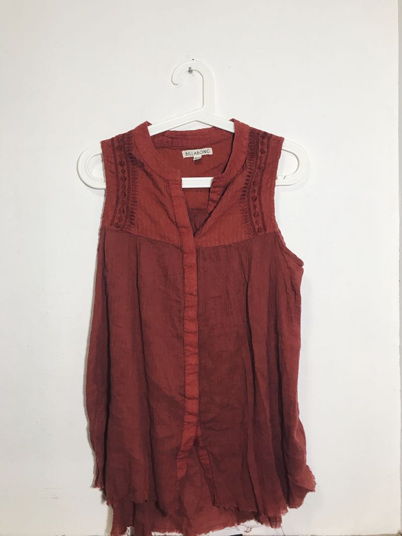 baf6dc8f07 Billabong Sleeveless Top, Women's Fashion, Clothes, Tops on Carousell