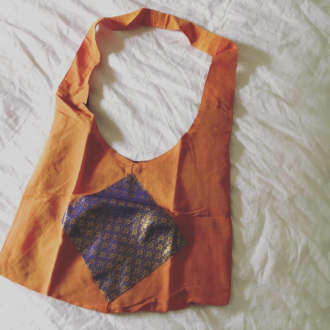 Brand New Festival Handbag | Orange & Blue Tribal Tones