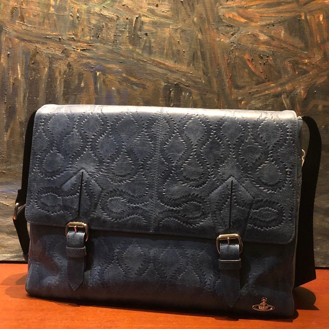 32b0f018124 Brand new Vivienne Westwood bag in blue, Men's Fashion, Bags ...