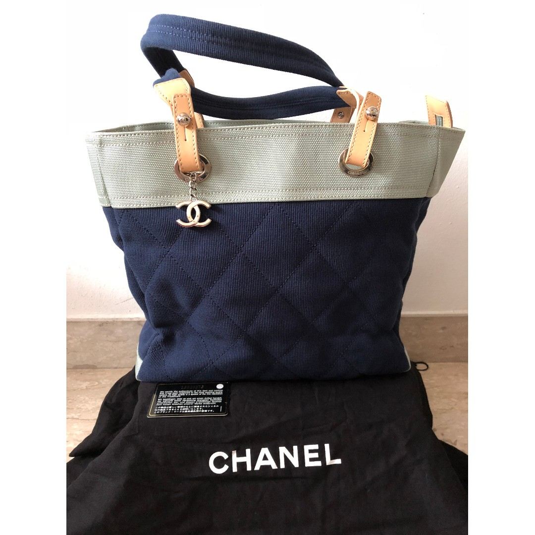 d13ce9b0bf5c Chanel Biarritz Tote Canvas Bag (Limited Edition), Luxury, Bags & Wallets,  Handbags on Carousell