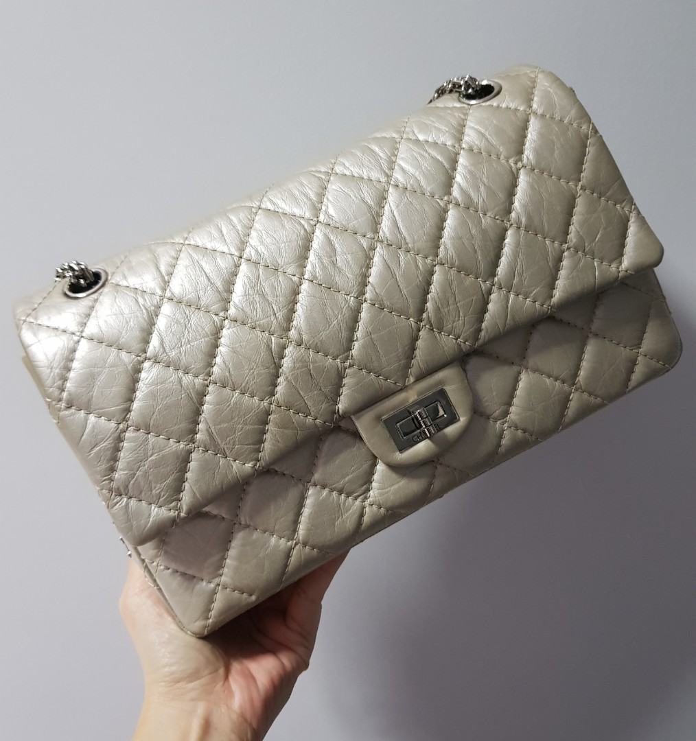 f2983439fd05 Chanel Silver Reissue 2.25 226, Women's Fashion, Bags & Wallets ...