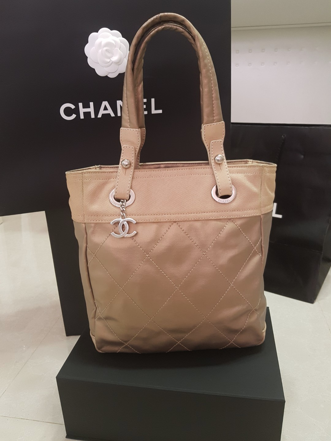 00ad0c8d1185 Chanel tote bag, Luxury, Bags & Wallets, Handbags on Carousell