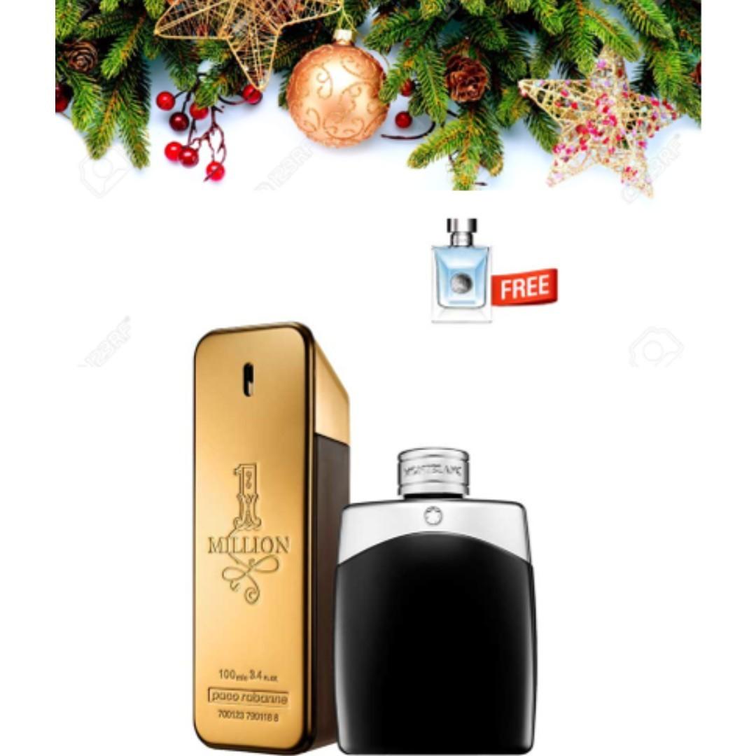 fbf7fca62c8 Christmas Bundle Paco Rabanne 1 Million & Mont Blanc Legend BNIB(100 ...