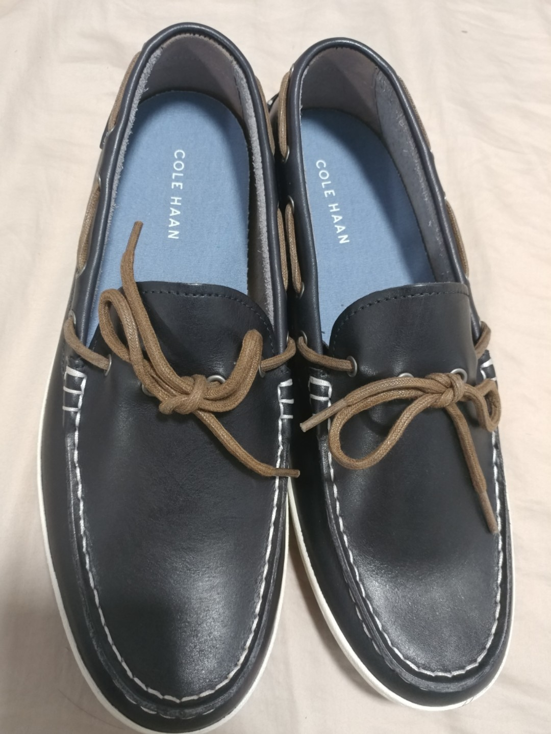 a7b1d451304 Cole Haan Boat Shoes Navy Blue Mens Size 11