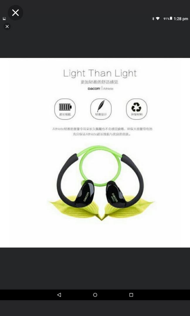 370f06fe430 🆕🆒Dacom Athlete™ Bluetooth Headset Wireless Headphones Sports ...