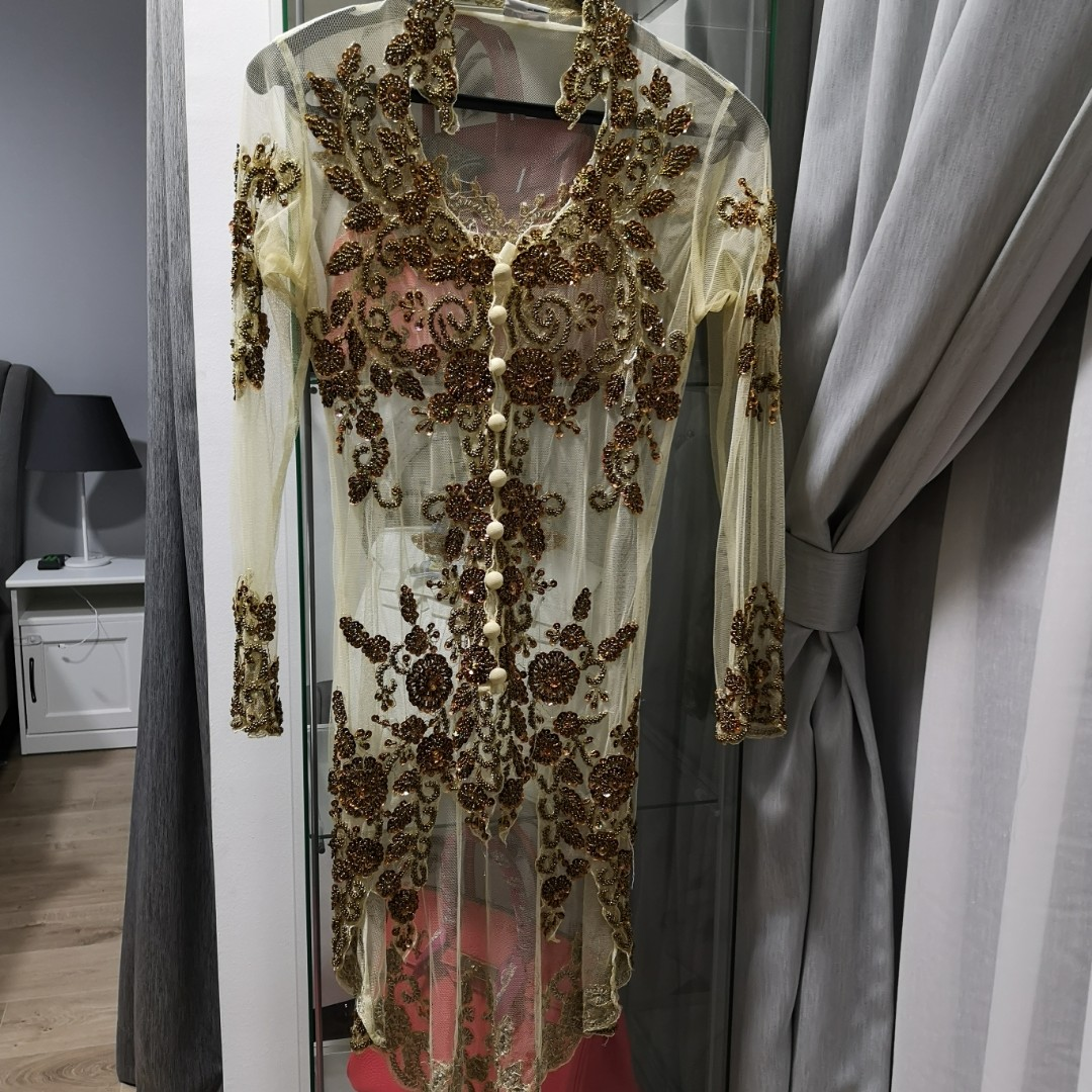 Embellished Lace Kebaya Top, Women's Fashion, Clothes, Others on Carousell