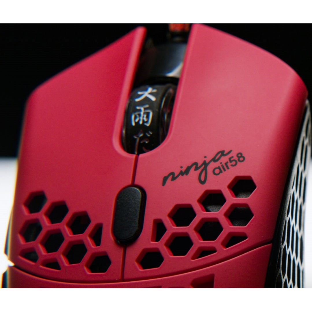 Finalmouse x Ninja Air58 (Cherry Blossom Red) Gaming Mice / Mouse Limited  Edition