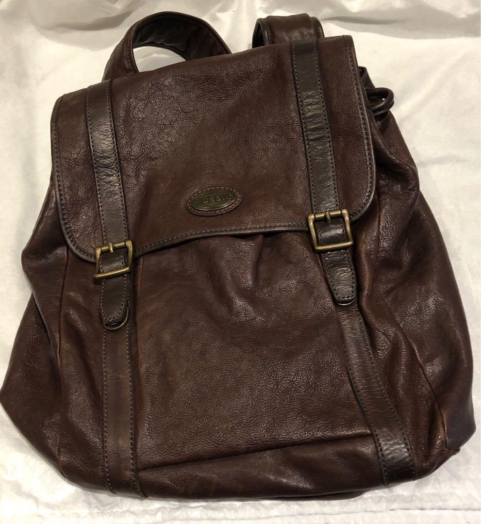 Fossil Leather Backpack - rarely used - very clean