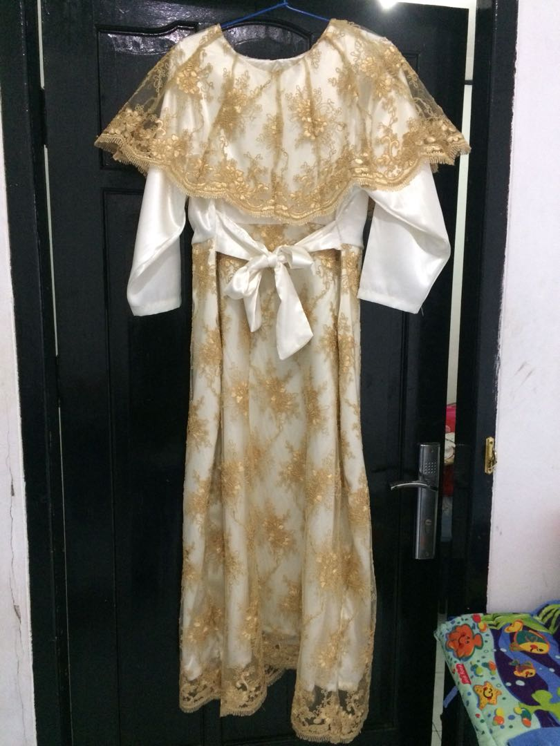 Gaun Pesta Gold Fesyen Wanita Muslim Fashion Gaun Di Carousell