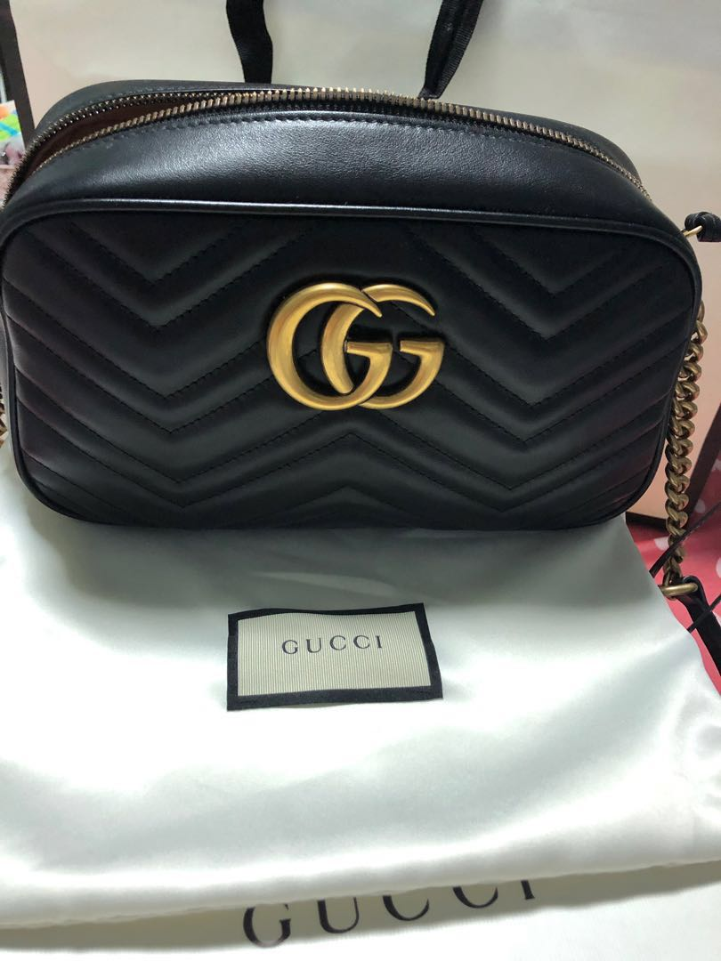 e51fda37a54c28 Gucci Marmont, Luxury, Bags & Wallets, Sling Bags on Carousell