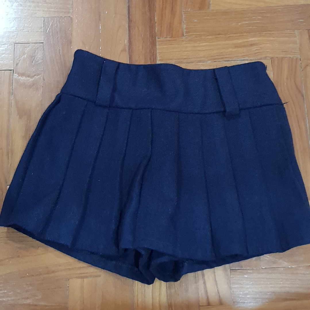 8aad22a47 Korean Navy Pleated Skirt, Women's Fashion, Clothes, Pants, Jeans ...