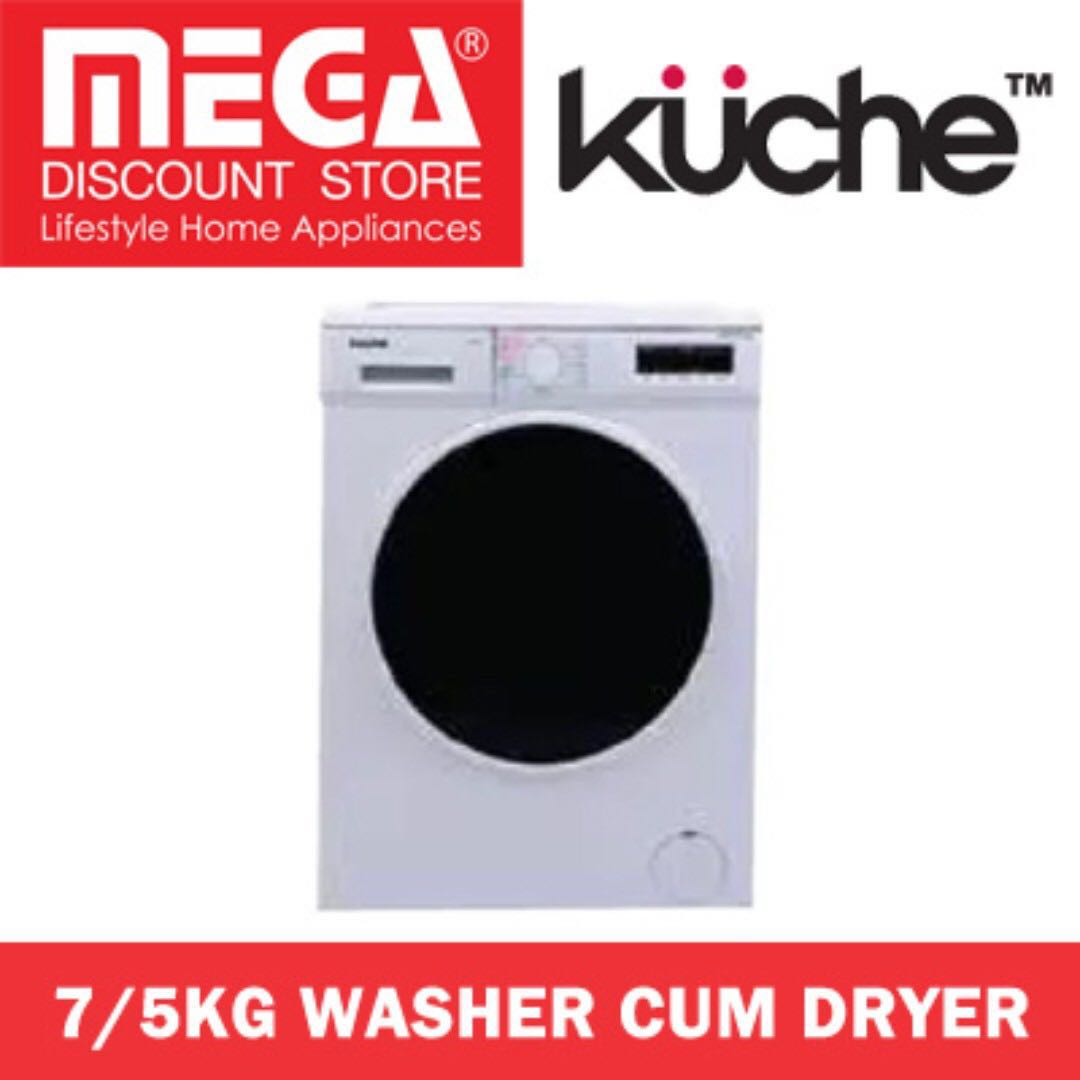 Kuche K1260wd 7 5kg Front Load Washer Cum Dryer Home Appliances