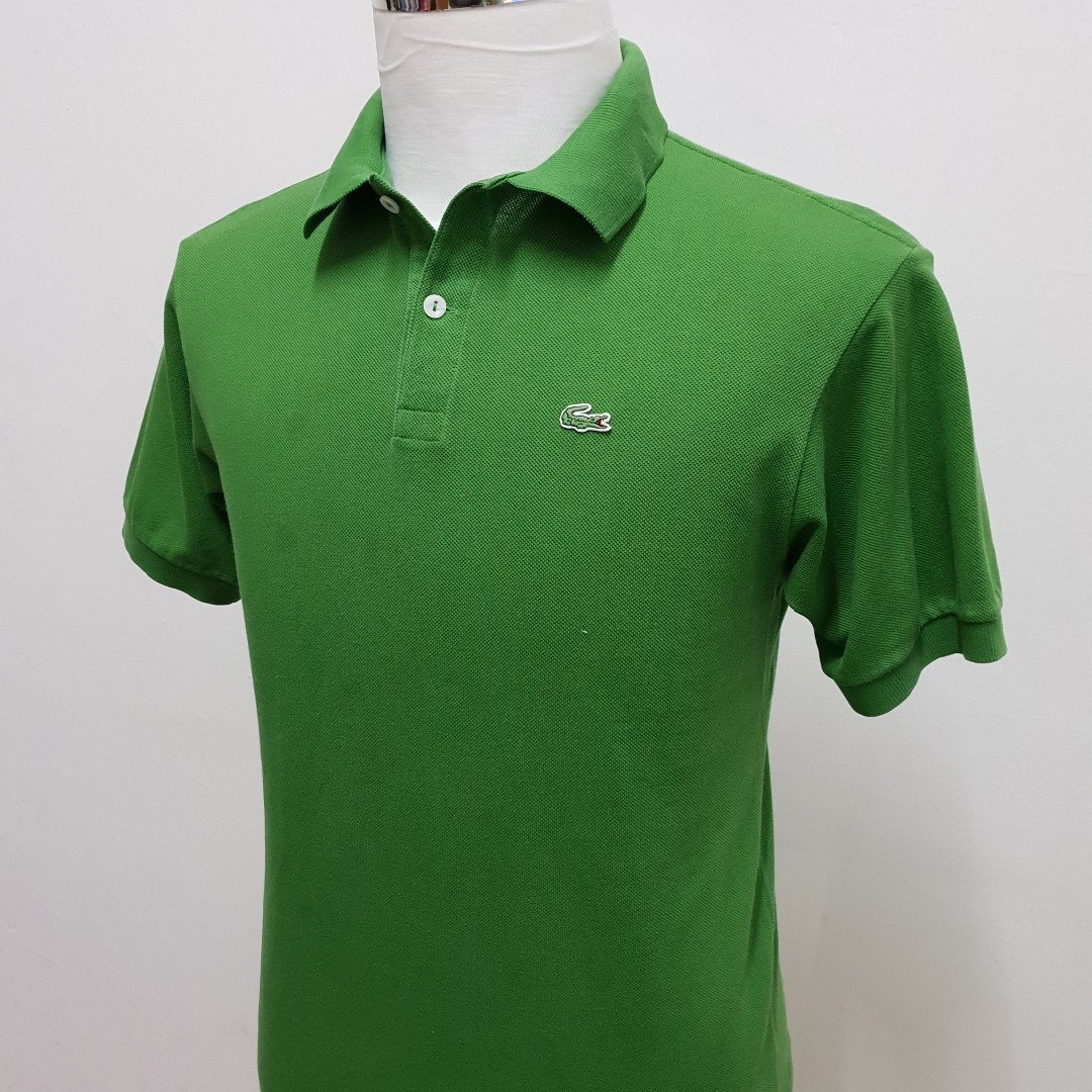 5150b60644ce Lacoste Polo Shirt Green Regular Fit Size S, Men's Fashion, Clothes ...