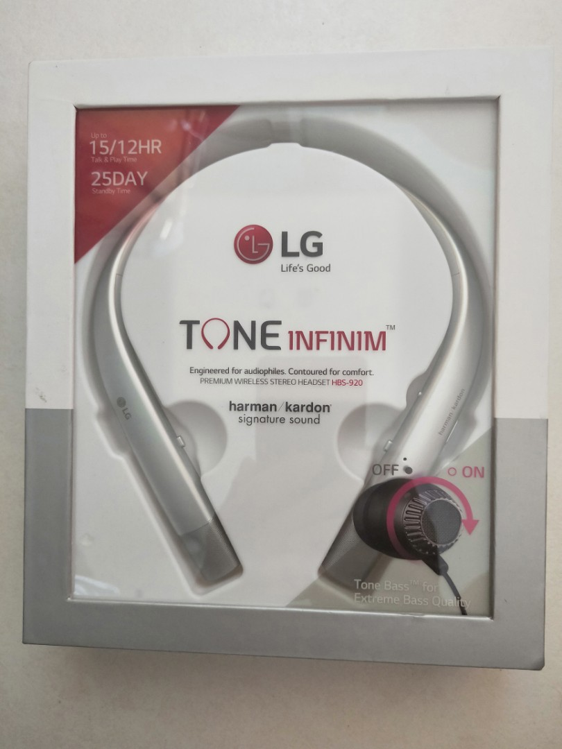 61a5055af49 LG wireless stereo headset (HBS-920), Electronics, Audio on Carousell