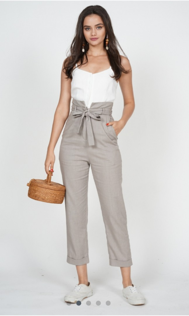 5012c889e6f5 MDS Self-Tie Cami Jumpsuit in Taupe